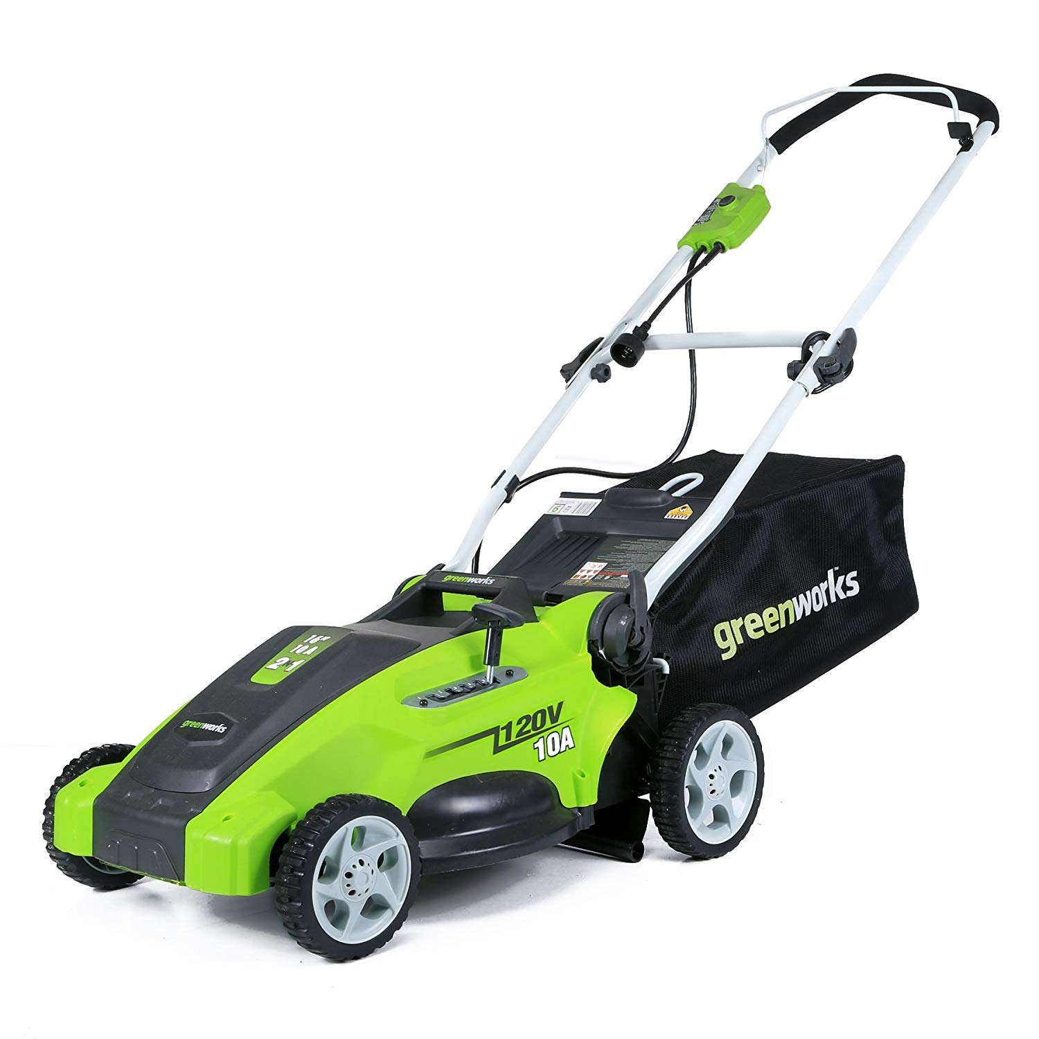 10 Amp Corded Electric Lawn Mower By Greenworks