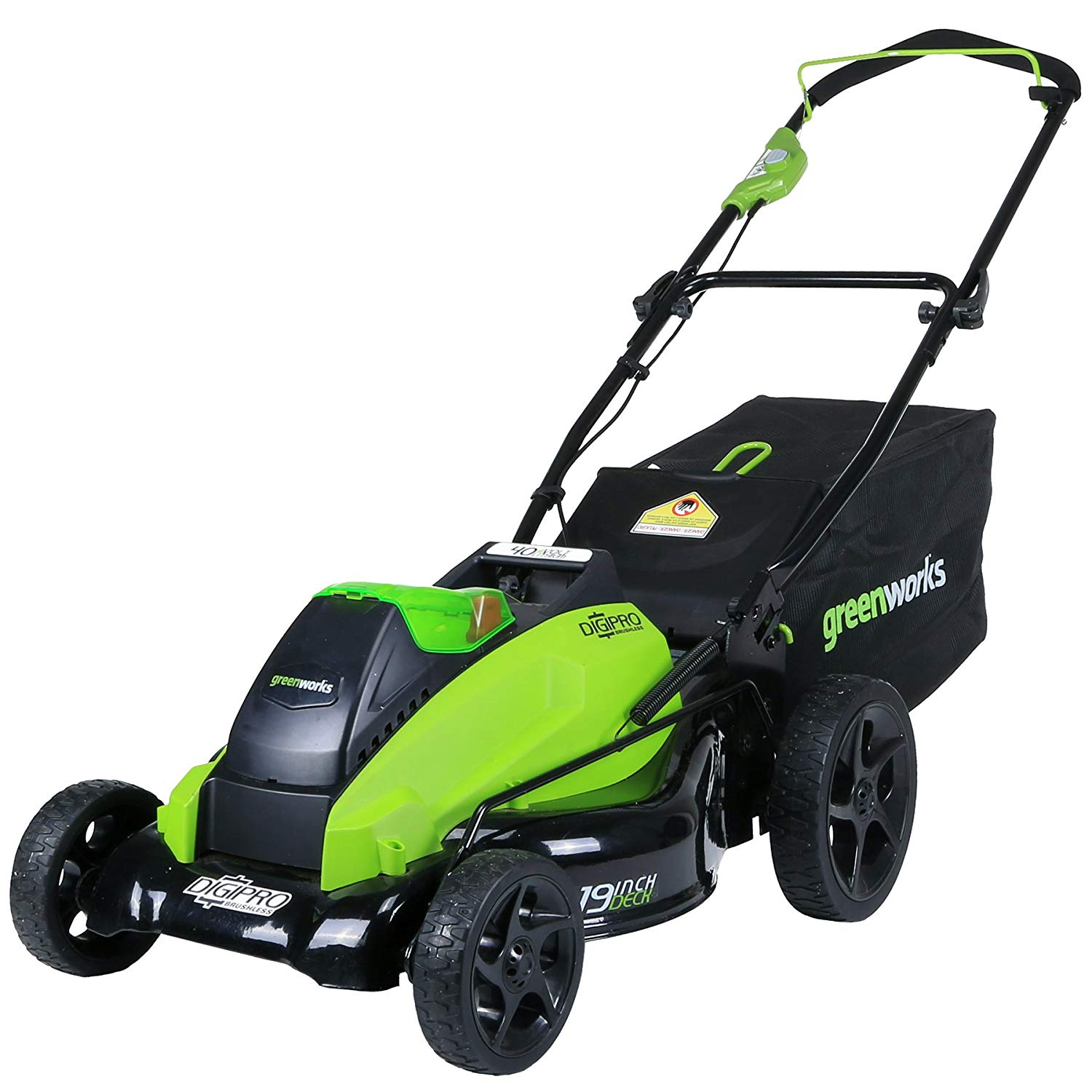(2501302) 19-Inch 40V Cordless Lawn Mower from Greenworks