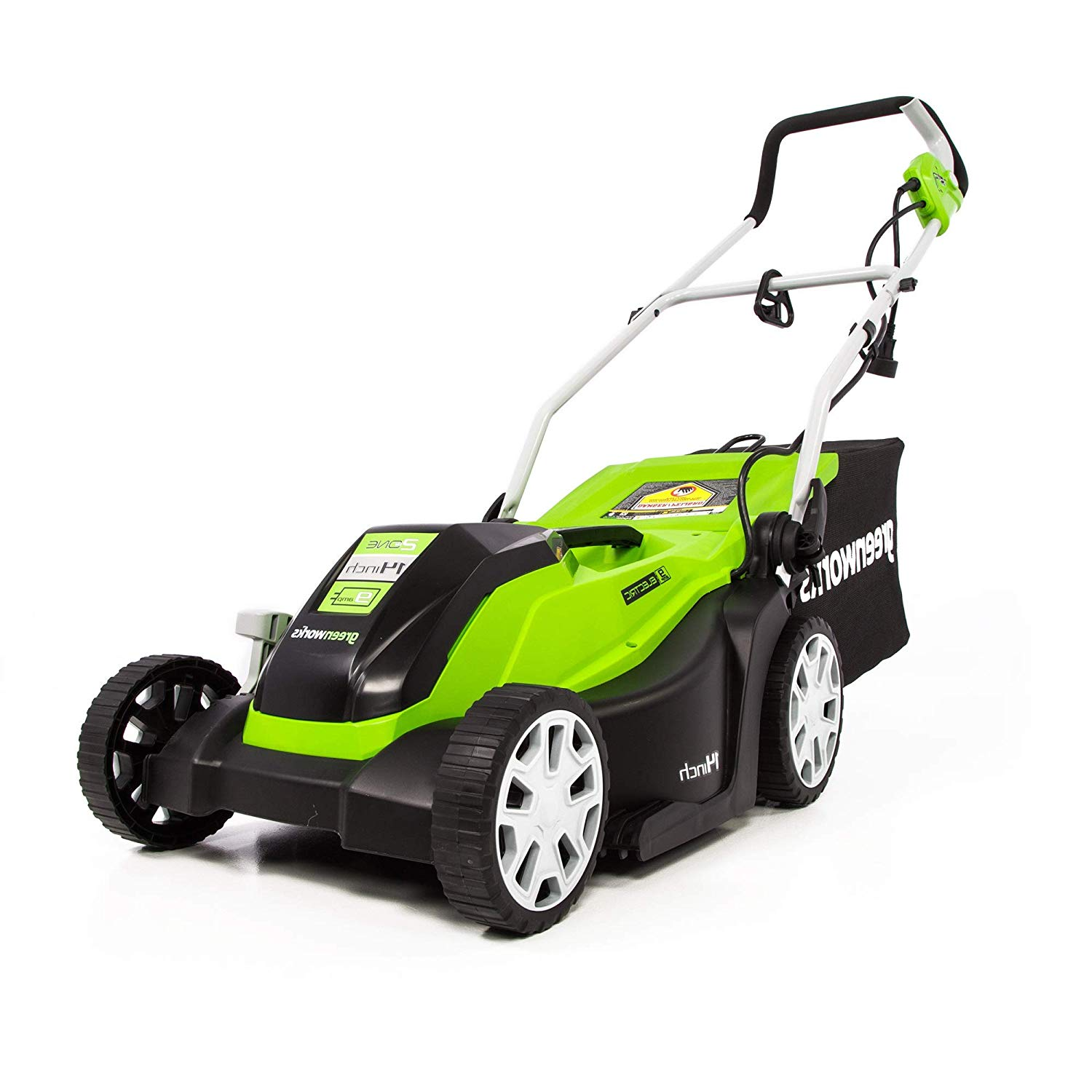 (MO09B01) 14-Inches Corded Electric Mower from Greenworks